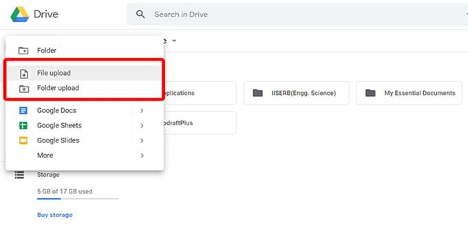 Upload-Files-on-Google-Drive