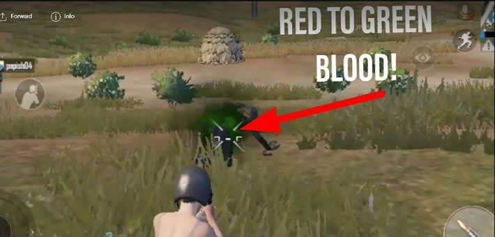 Green-hit-effect in PUBG Mobile India
